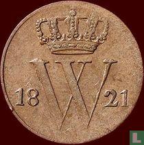 Netherlands ½ cent 1821 (B)