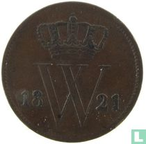 Netherlands 1 cent 1821 (Utrecht)