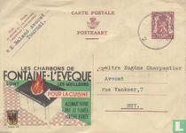Postcard Publibel Fontaine-L'eveque