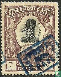 J.J. Dessalines, met opdruk