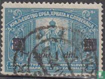 Zegels van 1921 met opdruk