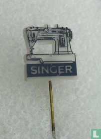 Singer [donkerblauw op wit]