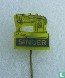 Singer [donkerblauw op geel]