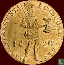 Netherlands ducat 1820