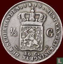 Netherlands ½ gulden 1819