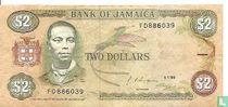 Jamaica 2 Dollars 1990