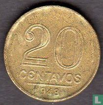 Brazilië 20 centavos 1948 (Getúlio Vargas)