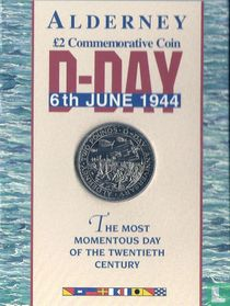 "Alderney 2 pounds 1994 (folder) ""50 years Normandy Invasion"""