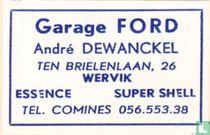 Garage Ford - André Dewanckel