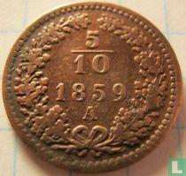 Austria 5/10 kreuzer 1859 (A)