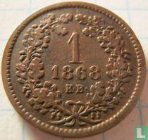 Hongarije 1 krajczar 1868 (KB)