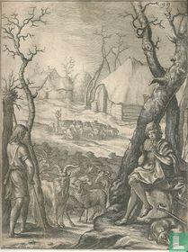 Herders in de winter