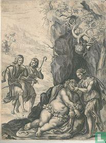 Silenus gevangen door de herders