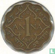 Brits-Indië 1 anna 1942 (Mumbai/Bombay)