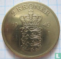Denemarken 2 kronen 1949