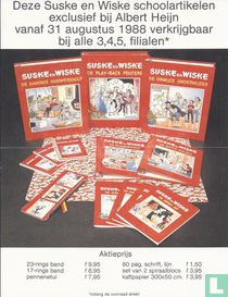 Deze Suske en Wiske schoolartikelen exclusief bij Albert Heijn