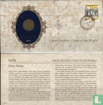 Brits-Indië 1 anna 1943 (Numisbrief)