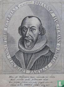 IOHANNES HÜLSEMANN. D. PROFESS: PUBLICUS LIPSIENSIS CONSISTORII ECCLESIAST. AEt. 49 Ao. 1651.