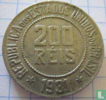Brasilien 200 Reis 1931