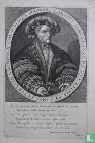 CAROLUS EGMONDANUS D.G. DUX GELRIAE ET COMES ZUTPHANIAE GRONINGAE OMLANDIAEQUE DOMINUS etc.