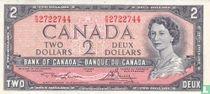 TICKET CANADA 2 Dollars 1954