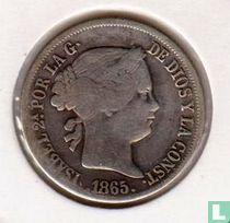 Filipijnen 20 centimos 1865