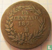 Mexico 1 centavo 1877 (Mo)