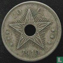 Belgian Congo 20 centimes 1910