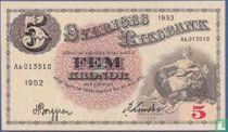 Schweden 5 Kronor 1952