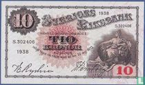 Schweden 10 Kronor 1938