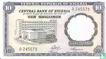 Nigeria 10 Shillings ND (1968)