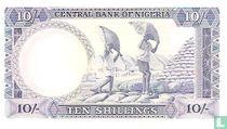 Nigeria 10 Shillings ND (1968)