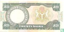 Nigeria 20 Naira ND (1984-) P26b