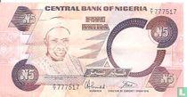 Nigeria 5 Naira ND (1984-) P24b