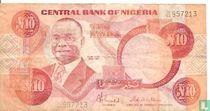 Nigeria 10 Naira ND (1984-) P25c