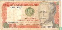 Peru 50000 Soles de Oro