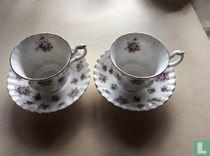 Kop Ø 8,9 cm en schotel - Sweet Violets - Royal Albert