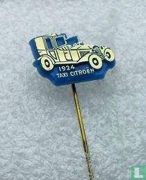 Taxi Citroën 1924 [goud op blauw]