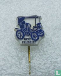 Peugeut 1892 [blauw op wit]