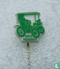 Peugeut 1892 [groen op wit]