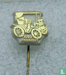Peugeut 1892 [goud op wit]
