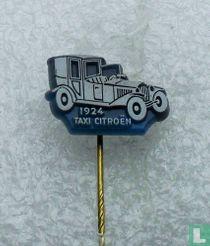 Taxi Citroën 1924 [wit op blauw]