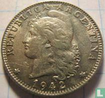 Argentinië 20 centavos 1942 (hoofd links)