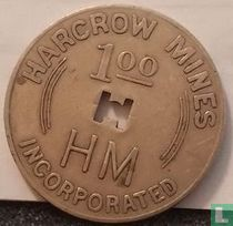 USA 1 dollar Harcrow (Coal) Mines