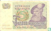 Schweden 5 Kronor 1978