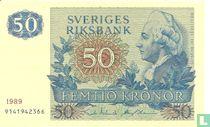 Schweden 50 Kronor 1989