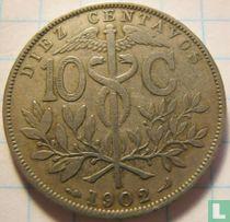 Bolivia 10 centavos 1902
