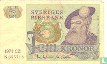 Schweden 5 Kronor 1973