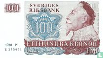 Schweden 100 Kronor 1981