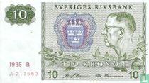 Schweden 10 Kronor 1985